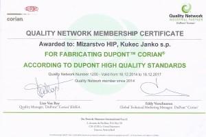 Mizarstvo HIP_certifikat Corian